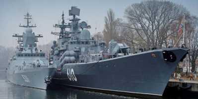 Балтийск и Балтийская коса - сердце Балтфлота. Военные корабли в Балтийске