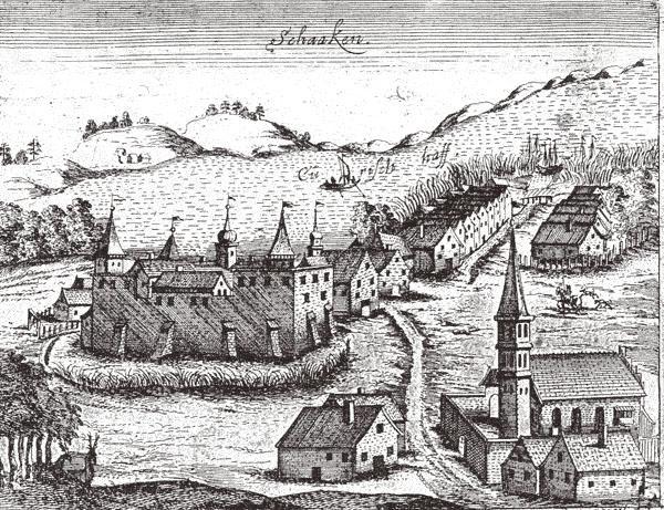 Гравюра замка Шаакен